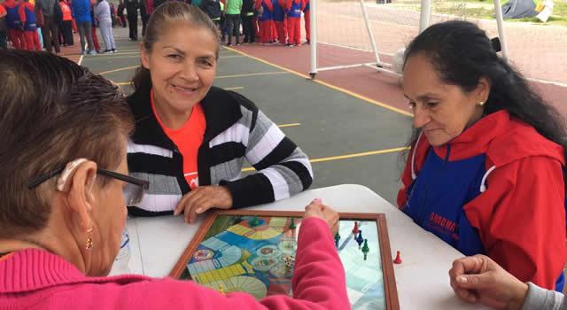 En Soacha se realizaron los juegos autóctonos y tradicionales del adulto mayor
