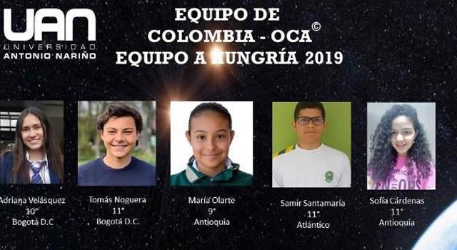 Dos estudiantes bogotanos asistirán a Olimpiadas Internacionales de Astrofísica