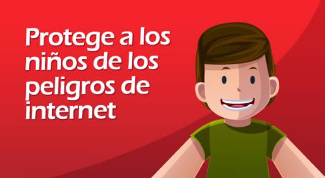 Proteja  a los niños de los peligros de internet