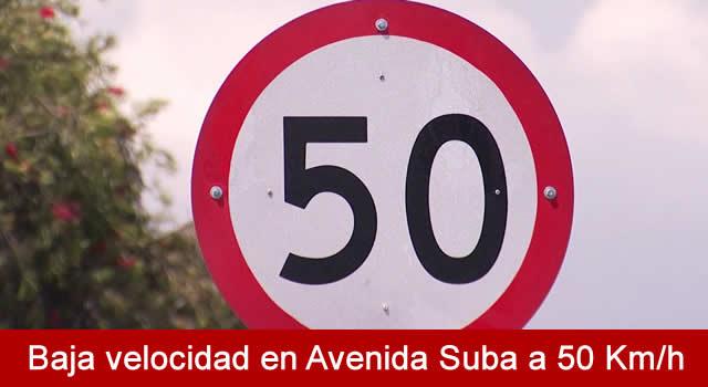 Distrito anuncia nuevo límite de velocidad máxima de 50 km/h en la Avenida Suba