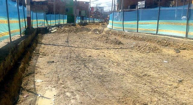 Por gestión comunal se rehabilita vía principal en Ciudad Latina Soacha
