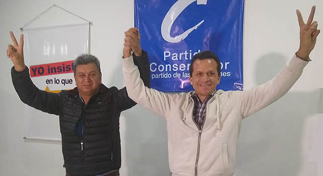 Partido Conservador adhiere a campaña de Juan Carlos Saldarriaga