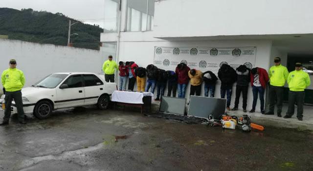 Policía desarticula banda dedicada al robo de fincas en Cundinamarca