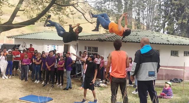 Estudiantes de Soacha  compitieron en una nueva experiencia campista