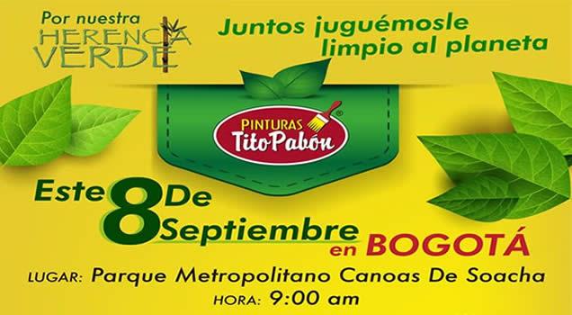 Pinturas Tito Pabón invita a reforestar Canoas-Soacha