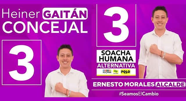 Heiner Gaitán aspira a ser la voz del pueblo en el Concejo de Soacha