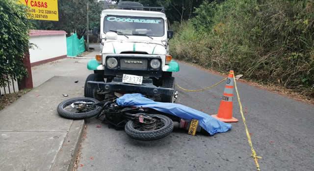 Muere motociclista en la vía Arbeláez – San Bernardo