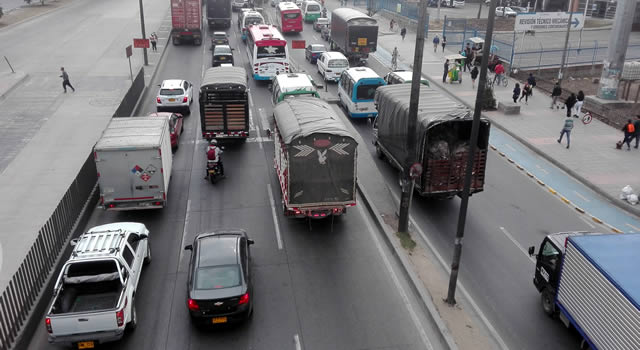 En Soacha se aplicaría restricción para vehículos de carga