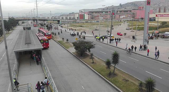 Alta afectación del transporte en Soacha