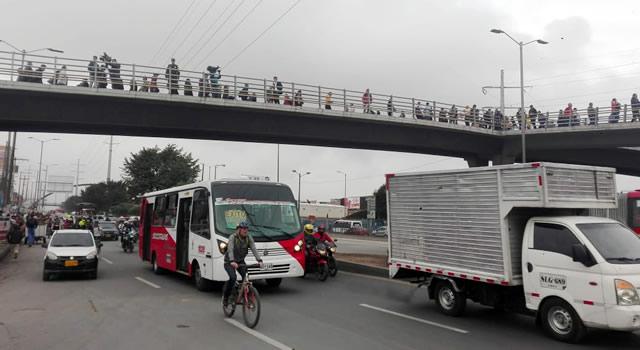 Comienza restablecimiento de rutas de transporte en el corredor Soacha-Bogotá