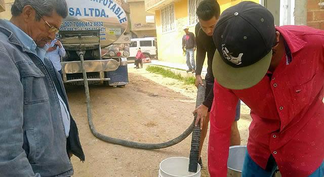 Sed en el barrio Cagua de Soacha, hace un mes se agotó el agua potable
