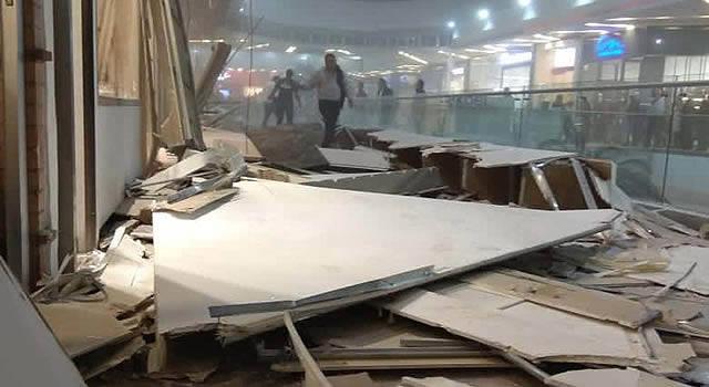 Más de 14 personas heridas dejó caída del techo de Unicentro