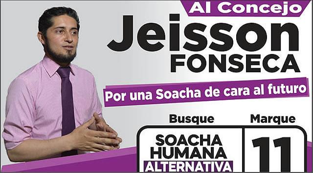 Jeisson Fonseca, el candidato que le hace frente a la corrupción en Soacha