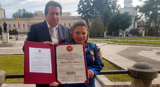 Congreso condecora a Jhormary Rojas Córdoba