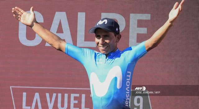 Nairo se subió al podio y es segundo en la Vuelta a España