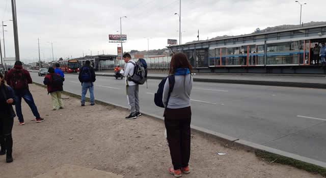 En imágenes, el paro de transporte en Soacha