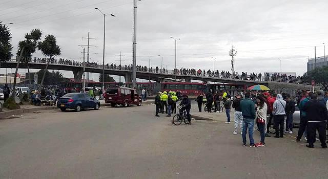 Nulo servicio de transporte público en Soacha por paro de conductores