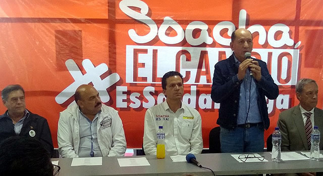 Juan Carlos Saldarriaga recibe apoyo del Movimiento Patria Nueva a la Alcaldía de Soacha