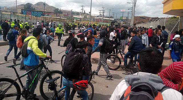 Fuertes disturbios  en la zona universitaria de Soacha