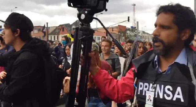 Prensa fue agredida por manifestantes durante las marchas en Bogotá