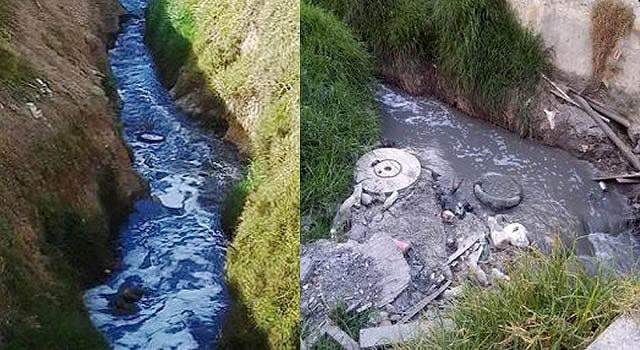 Contaminado por la propia comunidad se encuentra el Canal Tibanica en Soacha