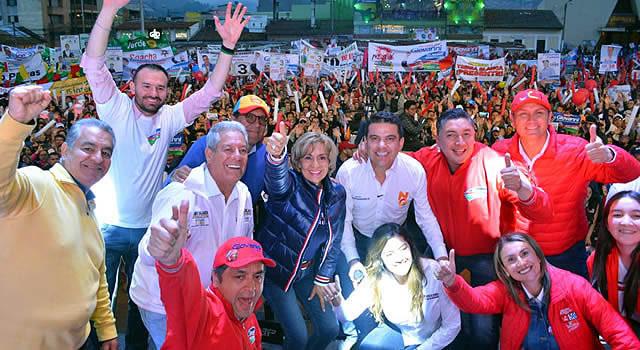 Giovanni Ramírez cerró su campaña en el Parque de Soacha