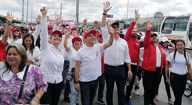 Nemocón caminó junto a Nicolás García para socializar su propuesta de gobierno