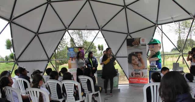 Domo ecológico será aula educativa de humedal Gualí