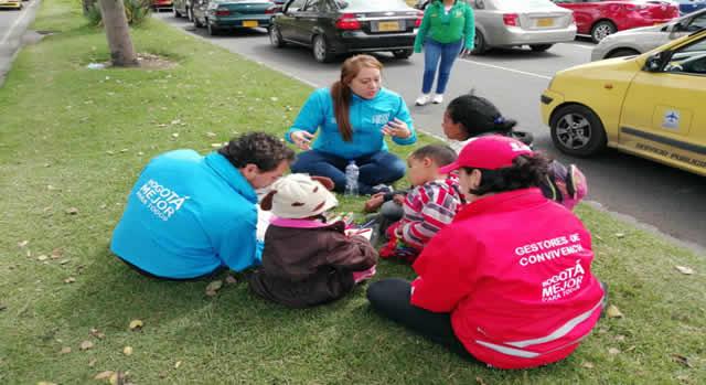Bogotá realizó operativo contra la mendicidad infantil