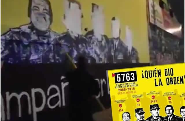 Indignación por borrado de mural  relacionado con falsos positivos