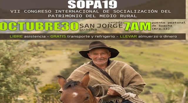 Soacha es el escenario del VII Congreso Internacional de Socialización del Patrimonio del Medio Rural (SOPA)