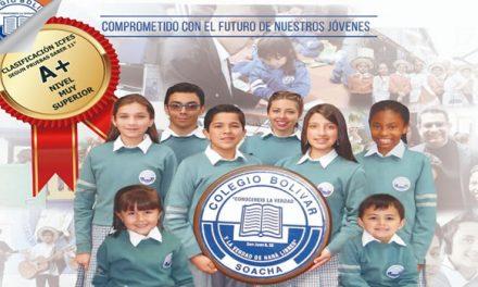 Colegio Bolívar de Soacha  clasificado como uno de los   de más alto desempeño en las pruebas saber 11°