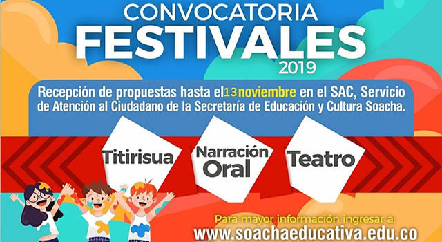 Abren convocatoria para audiciones de los Festivales Titirisua, Teatro y Narración Oral de Soacha