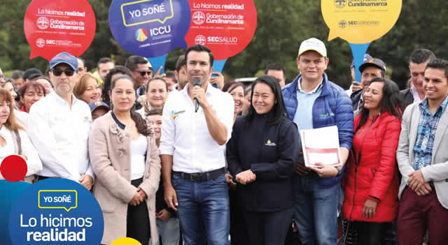 Gobernador de Cundinamarca rinde cuentas de su gestión