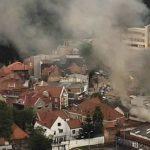 Fuerte incendio en una vivienda del centro de Bogotá