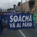 Por Autopista Sur sale marcha de Soacha hacia Bogotá