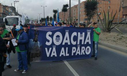 Con tranquilidad transcurren marchas en Soacha