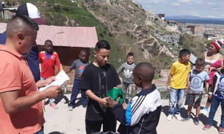 En  barrio vulnerable de Soacha y en el Hospital Mario Gaitán se entregan sonrisas a niños del municipio