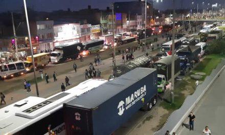 Enorme congestión en Autopista Sur originó marcha en Soacha