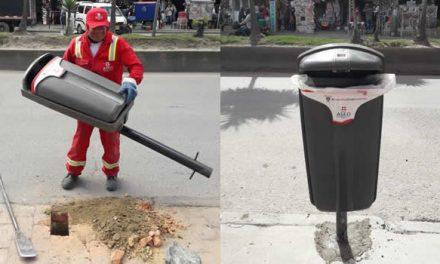 Aseo Internacional instala cestas de basura en Soacha
