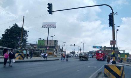 Alcaldía de Soacha  busca solución definitiva a daño en el semáforo del Altico