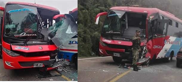 Dos lesionados deja accidente en Sibaté
