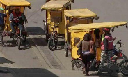 Protesta en San Mateo por robo a bicitaxistas