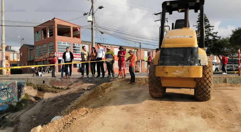 Casi lista vía que desembotellará  movilidad por el sector de Indumil en Soacha