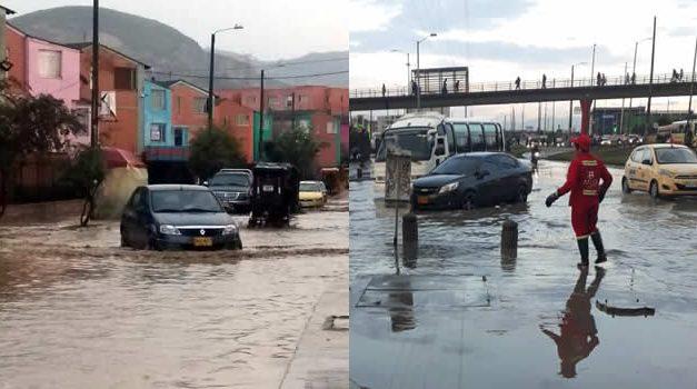 Emergencia en Soacha por fuerte aguacero