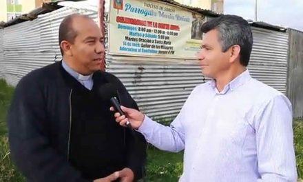 Padre Eduar Pizo vuelve a Soacha con el reto de construir la Parroquia María Reina
