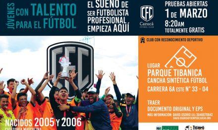 Convocatoria para pertenecer a  Cazucá Fútbol Club