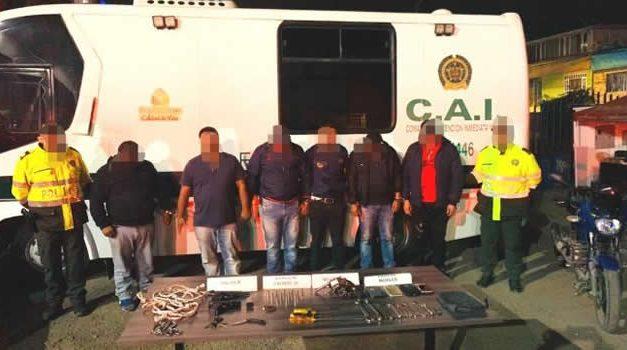 Caen  «Los Comanches», banda dedicada al atraco a comerciantes en Sabana  Occidente