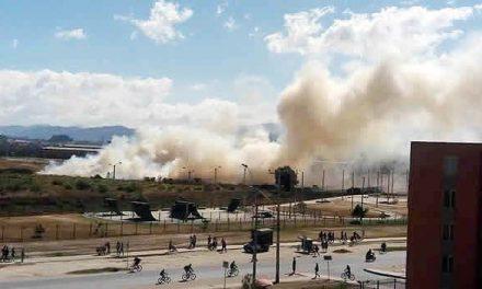 Incendio en el humedal Neuta de Soacha