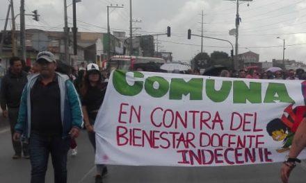Maestros de Soacha marchan en Bogotá en defensa de la educación pública